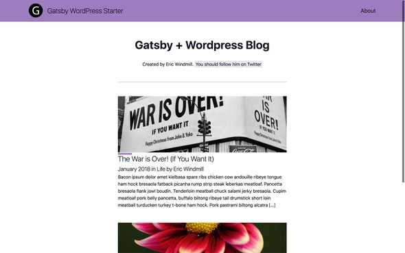 gatsby-wordpress-starter